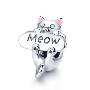Talisman din argint Meow Cat