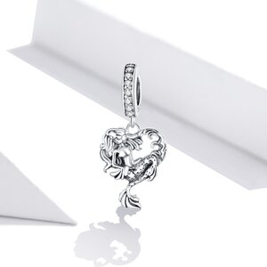 Talisman din argint Mermaid Heart