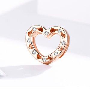 Talisman din argint Metropolitan Crystal Heart Bead