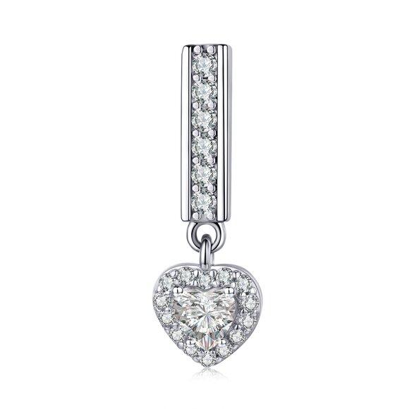 Talisman din argint Metropolitan Shiny Heart Bead