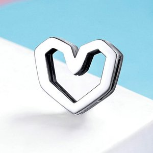 Talisman din argint Metropolitan Silver Heart Bead