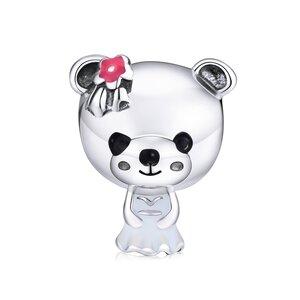 Talisman din argint Miss Teddy Bear