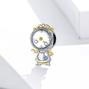 Talisman din argint Mister Clock