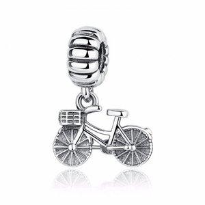 Talisman din argint opritor cu Bicicleta