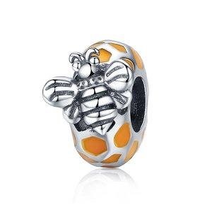 Talisman din argint Orange Honeycomb