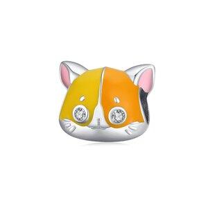 Talisman din argint Orange Kitty