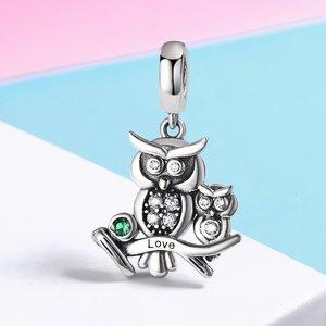 Talisman din argint Owl Family