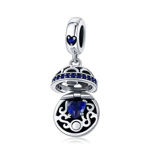 Talisman din argint Pandora's Box safir
