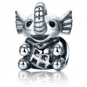 Talisman din argint patinat Baby Elephant