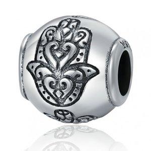 Talisman din argint patinat cu Fatima