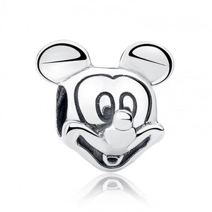 Talisman din argint patinat cu Mickey Mouse