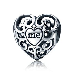Talisman din argint patinat Me and You