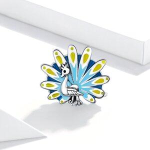 Talisman din argint Peacock