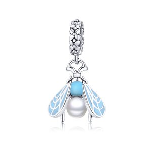 Talisman din argint Pearl Fly