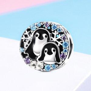 Talisman din argint Penguin Family