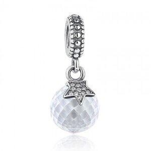 Talisman din argint pentru spatiere cu Cristal Alb si Stea de Mare