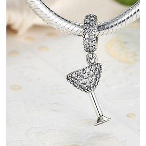 Talisman din argint pentru spatiere cu Pahar de Cocktail