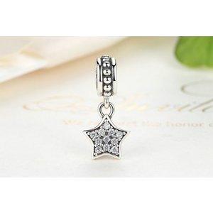 Talisman din argint pentru spatiere cu Steluta si Cristale