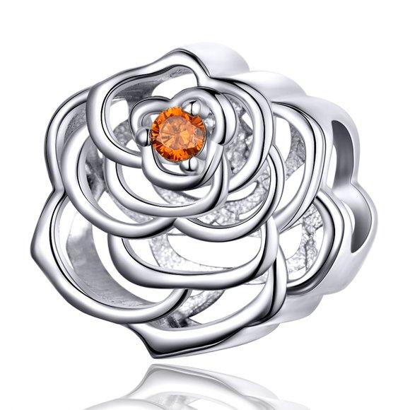 Talisman din argint Perfect Rose
