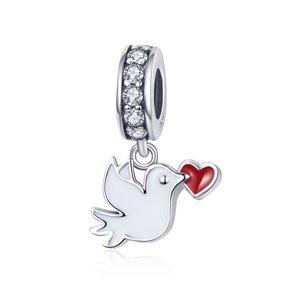 Talisman din argint Pigeon of Love
