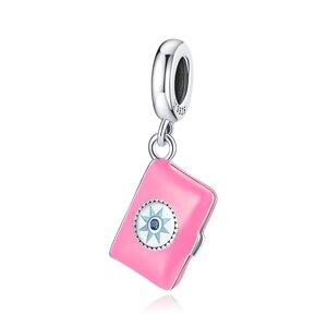 Talisman din argint Pink Notebook