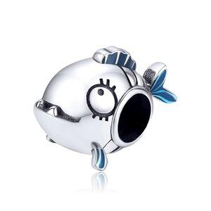 Talisman din argint Piranha Fish