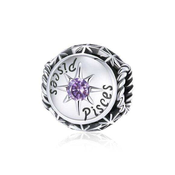Talisman din argint Pisces Zodiac Sun