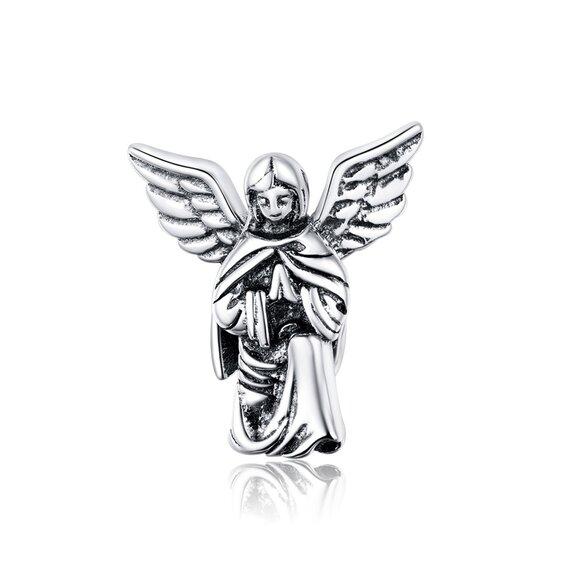 Talisman din argint Praying Angel