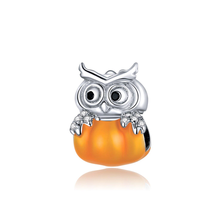 Talisman din argint Pumpkin Owl poza 2021
