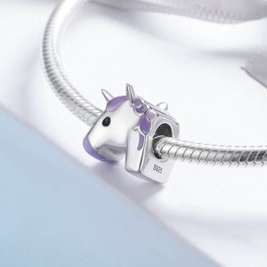 Talisman din argint Purple Unicorn
