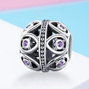 Talisman din argint Purple Zirconia Charm