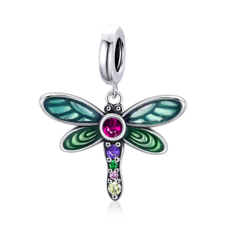 Talisman din argint Rainbow Dragonfly poza 2021