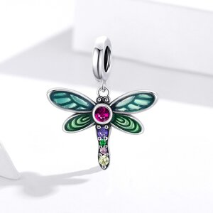 Talisman din argint Rainbow Dragonfly