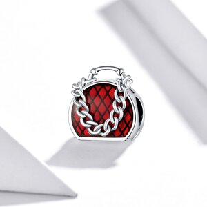 Talisman din argint Red Chain Bag