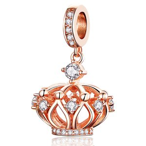 Talisman din argint Rose Gold Crown