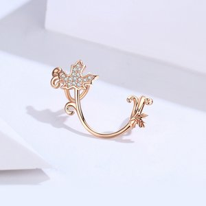 Talisman din argint Rose Gold Maple Charm