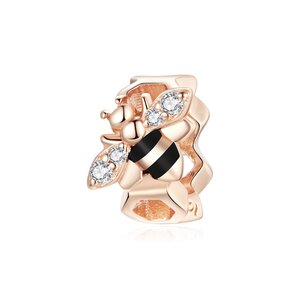 Talisman din argint Rose Gold Small Bee