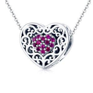 Talisman din argint Rosy Heart