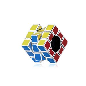 Talisman din argint Rubik's Cube