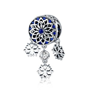 Talisman din argint Safir Snowflakes
