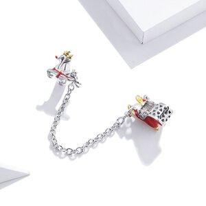 Talisman din argint Santa's Reindeer Safety Chain