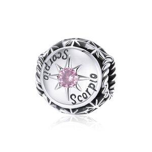 Talisman din argint Scorpio Zodiac Sun