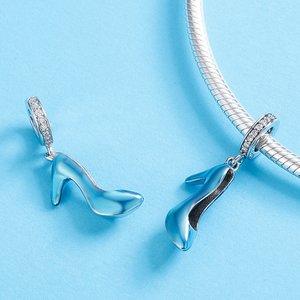 Talisman din argint Shiny Blue Shoe
