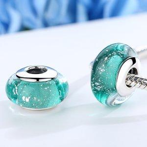 Talisman din argint si sticla cu Abis Turquoise