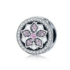 Talisman din argint Silver Blooming Flower
