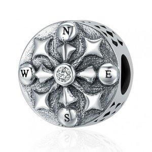 Talisman din argint patinat Silver Compass