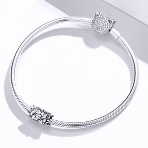 Talisman din argint Silver Flower Bead
