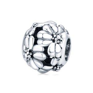 Talisman din argint Silver Flowers Bead