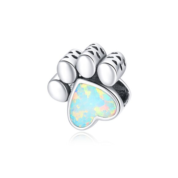 Talisman din argint Silver Opal Paw