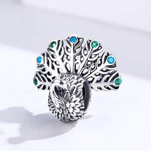 Talisman din argint Silver Peacock